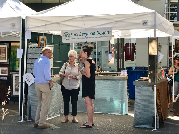 Spotted: Early birders at Summerfest in downtown Menlo Park
