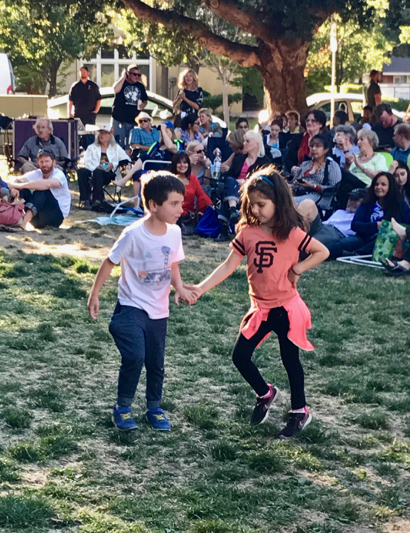 Spotted: Young dancers showing their stuff when Freddy Clarke and Wobbly World play
