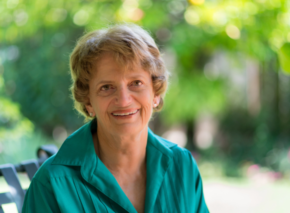 Carol Mayer Marshall talks about getting women elected at Menlo Park Library on March 2