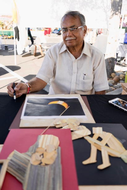 Post image for Dr. Ramesh Sharma demonstrates the mastery of twig art at Facebook Festivals