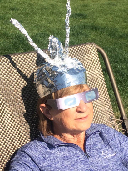 The eclipse itself – and more photos of Menlo Park viewers