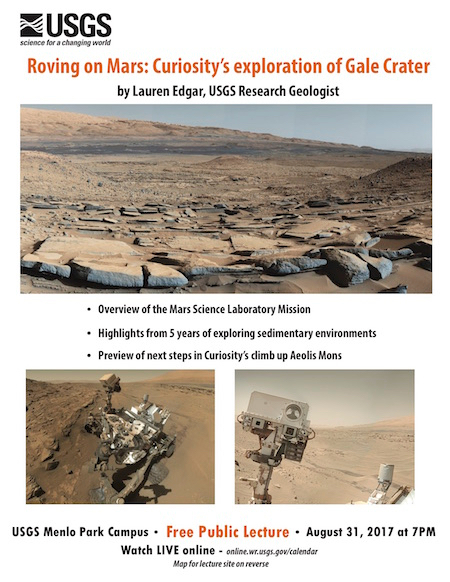 "Post image for ""Roving on Mars"" is next USGS lecture on Aug. 30"