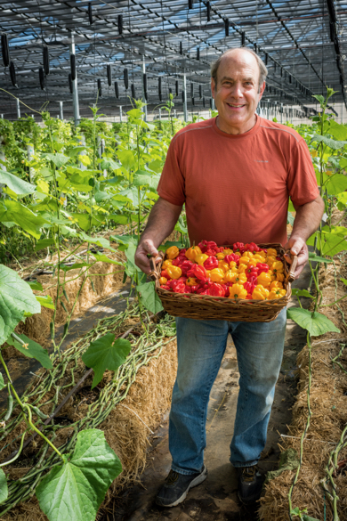 Post image for David Winsberg of Happy Quail Farms may be best known for peppers – but that's not all he grows