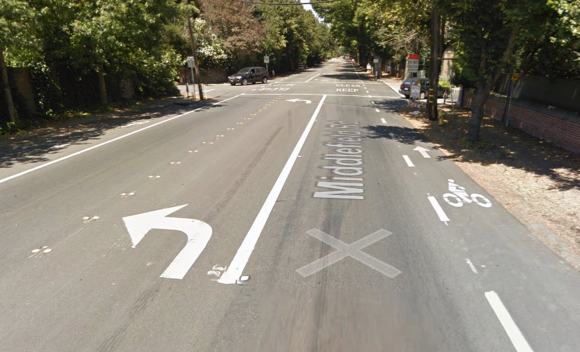 Post image for Atherton focuses on Middlefield Road bicycle lane improvement project