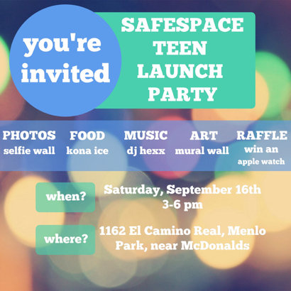 Post image for Teens & young adults invited to SafeSpace launch party on Sept. 16