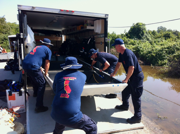 Menlo Fire engages in search and rescue operations in flooded parts of Texas in aftermath of Hurricane Harvey