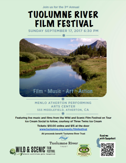Post image for 3rd Annual Tuolumne River Film Festival set for Sept. 17