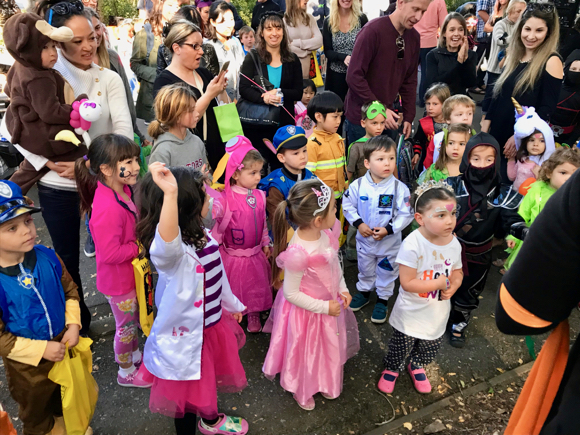 Spotted: Costumed kids – and a dog – at Atherton's community Halloween event