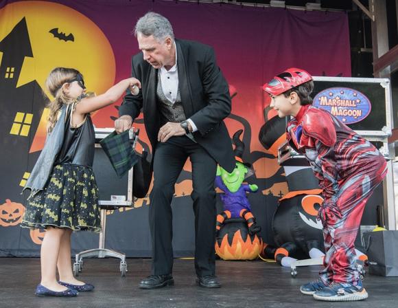 Spotted: Magician Marshall Magoon delighting kids at Halloween Hoopla