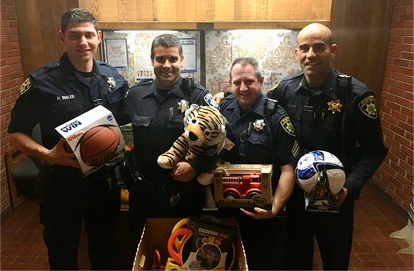 Post image for Atherton Police Department collecting toys for Selby Lane School