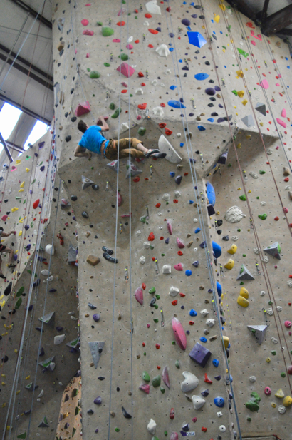Jake Scharfman finds rock climbing the perfect sport