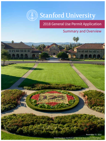 Post image for Comments due on Stanford General Use Plan due by December 4