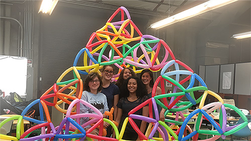 Volunteers needed on Sunday to build Sierpinski holiday tree using balloons