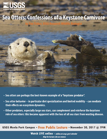 Post image for Learn about sea otters at free USGS lecture on Nov. 30