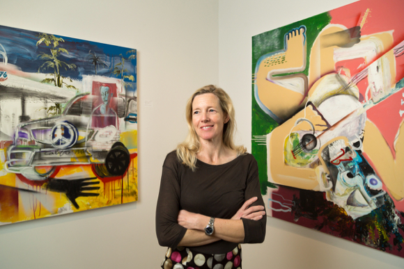 Post image for Katharina Powers brings contemporary, meaningful art to downtown Menlo Park