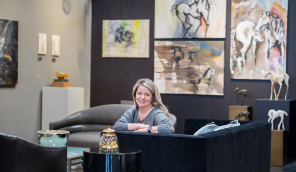 Jill Layman opens gallery that showcases art along with providing space for events