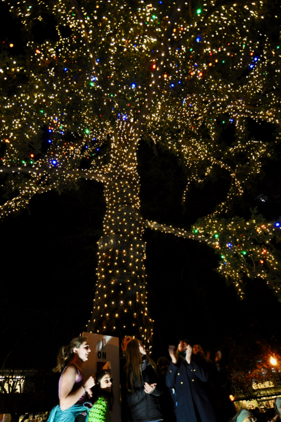 Post image for Holidays officially begin in Menlo Park with lighting of tree at Fremont Park
