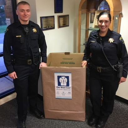 """Post image for Last call to support Menlo Park Police Explorers' """"One Warm Coat"""" collection drive"""