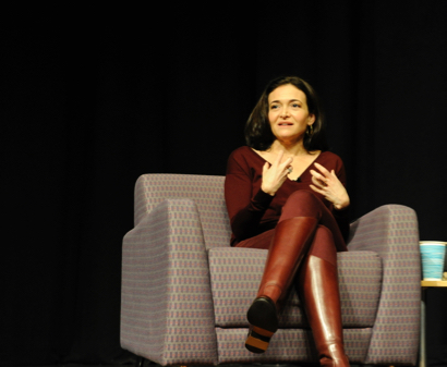 Facebook COO Sheryl Sandberg speaks to MPCSD community at Parent Speaker Series Event