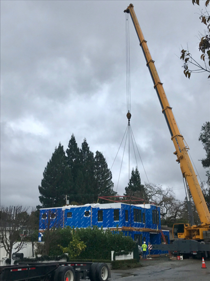 Post image for Spotted: Last part of modular house being put in place