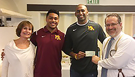 Post image for Menlo Park Kiwanis Club donates $5,000 to Menlo-Atherton High School Athletic Association