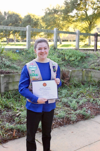 Post image for Menlo Park's Meredie Cohen earns Girl Scout Gold Award for STEM-based education project