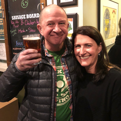 Spotted: Raising a pint for Malcolm on Freewheel Brewing Company's 5th anniversary