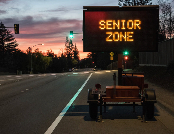 "Post image for What's going on with the new ""senior zone"" signs on Santa Cruz Avenue?"