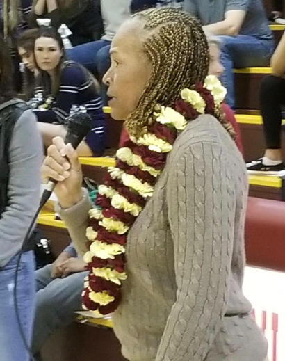 Basketball court named in honor of long-time Menlo-Atherton High School teacher Pam Wimberly