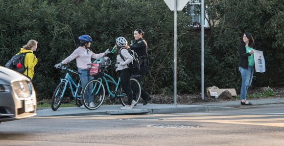 Post image for Bike safety week at Hillview Middle School kicks off with support from Parents for Safe Routes and MPPD