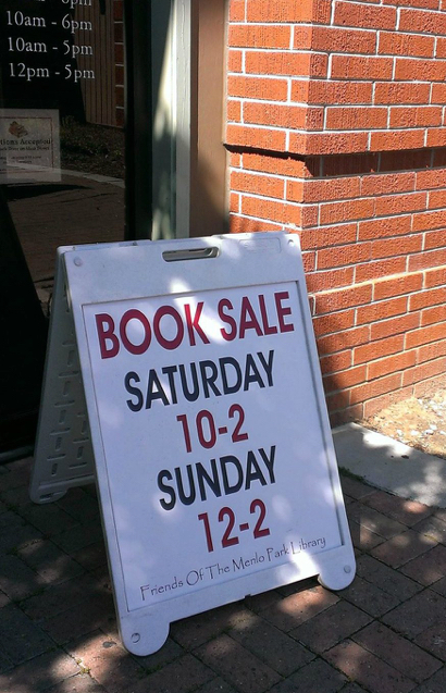 Post image for Book sale at Menlo Park Library on March 24 & 25