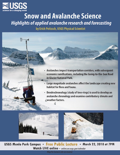 Post image for Snow and Avalanche Science is USGS topic on March 22
