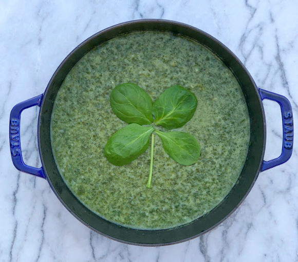 Post image for Bring on the green and make cream o' spinach soup for St. Patrick's Day