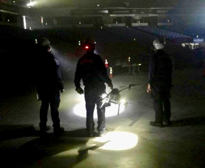 Spotted: Menlo Fire drone team participating in Cal-OES simulated earthquake exercises