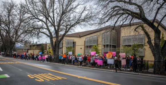 "Hillview Middle School students join National Walkout to ""make their voices heard"""