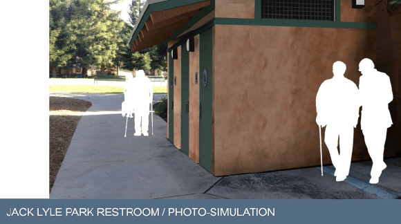 Restrooms are coming to Jack W. Lyle Park in early 2019