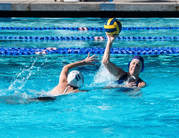 Menlo Mavens water polo team participates in Senior Games this weekend