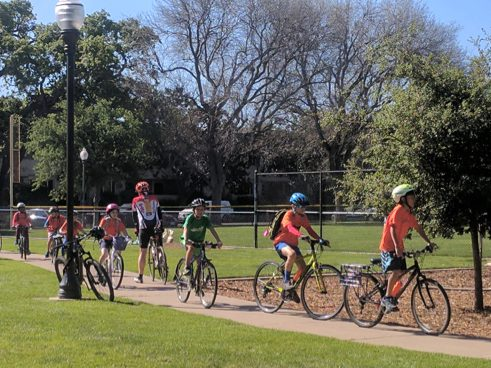 Free bicycle helmet fitting for Belle Haven neighborhood kids on October 21