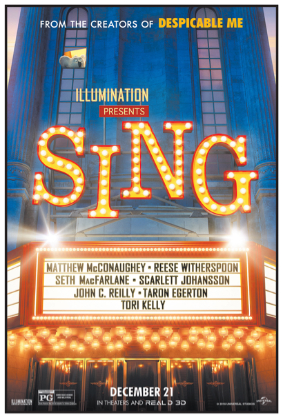 """Post image for Outdoor family movie night at Hillview on April 27 features """"Sing"""""""