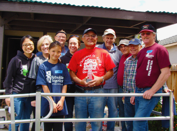 Post image for Menlo Park Kiwanis Club member honored for 25 years of service on National Rebuilding Day