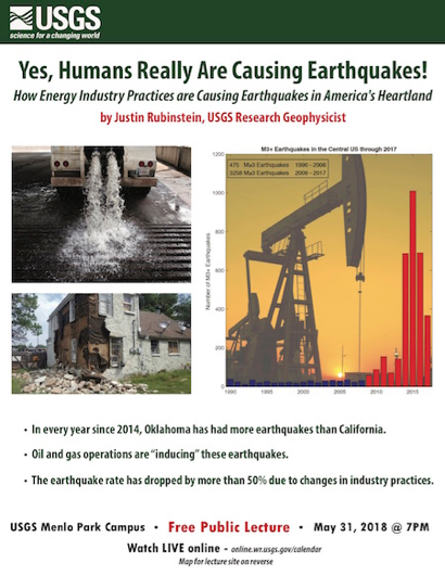 Post image for Learn how humans are causing earthquakes at USGS lecture on May 31