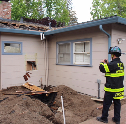 Attic fire at home on Ambar Way brought quickly under control on Saturday