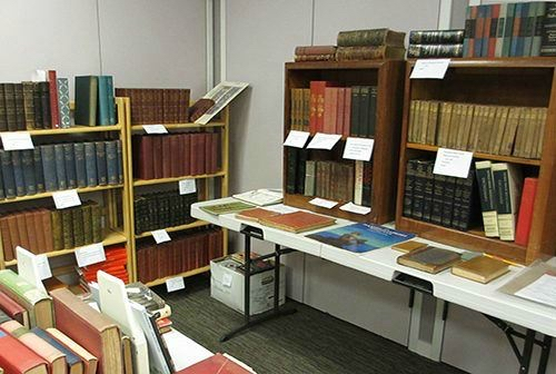 Post image for Antiquarian book sale set or Saturday, May 12