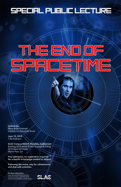 "Post image for SLAC free public lecture looks at ""The End of Spacetime"" on June 19"