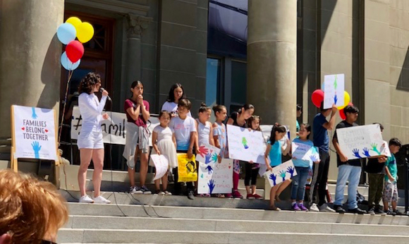 Menlo Park residents among those who take part in Families Belong Together rally today