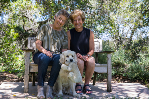 Mosey the dog finds two happy homes in Woodside
