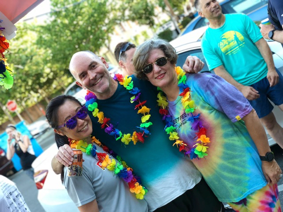 Spotted: Colorful Fleet Feet runners participate in Rainbow Run