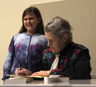 Temple Grandin talks about her new book at Kepler's Literary Foundation event