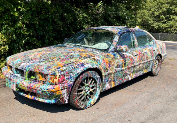 Post image for Spotted: Car with a Jackson Pollock paint job