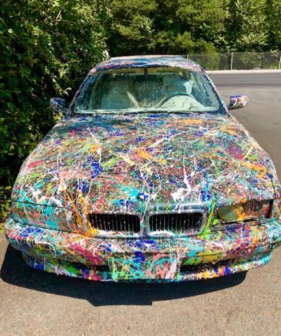 Car Paint Job >> Spotted Car With A Jackson Pollock Paint Job Inmenlo